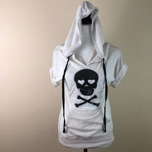 Hoodie Shirt Skulls Bones Girls Medium 7-9